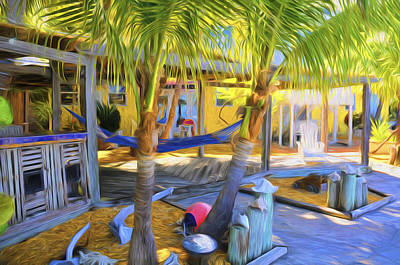 Photograph - Sunset Villas Patio And Hammock by Ginger Wakem