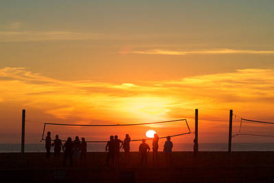Photograph - Sunset Volleyball by Kim Wilson
