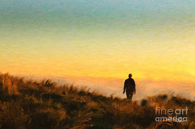 Painting - Sunset Walk by Chris Armytage