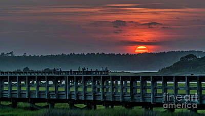 Photograph - Sunset Walk by DJA Images