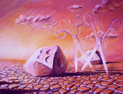 Sunset Walk In Diceland Desert Original by Dusan Balara