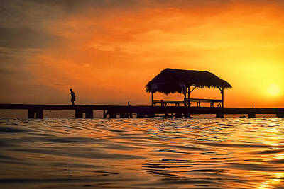 Caribbean Photograph - Sunset Walk by Nadia Sanowar