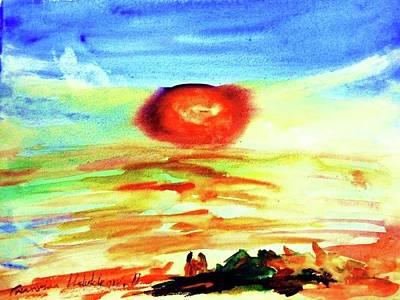 Painting - Sunset by Wanvisa Klawklean