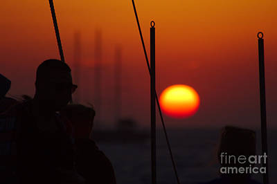 Photograph - Sunset Watcher Silhouette by Jeremy Hayden