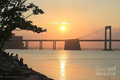 Photograph - Sunset Watching By The Bay by Dora Sofia Caputo Photographic Design and Fine Art