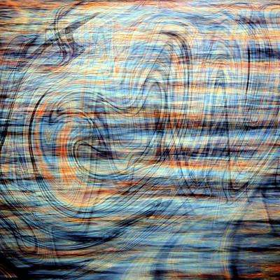 Digital Art - Sunset Water Baby by Kathy K McClellan