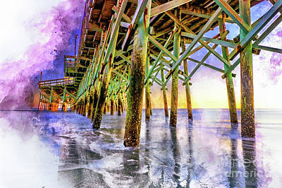 Photograph - Sunset Water Colors by David Smith