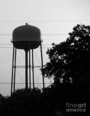 Photograph - Sunset Water Tower Bw Version Two by Joseph Baril