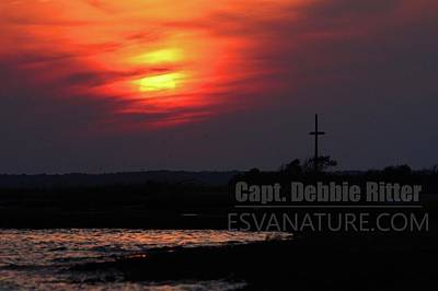 Photograph - Sunset Watermans Memorial 6777 by Captain Debbie Ritter