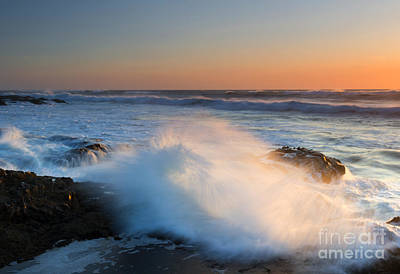 Sunset Wave Explosion Art Print