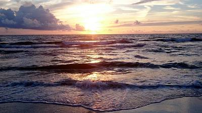 Photograph - Sunset Waves 1 by Vicky Tarcau