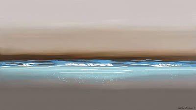 Midday Digital Art - Sunset Waves by Anthony Fishburne