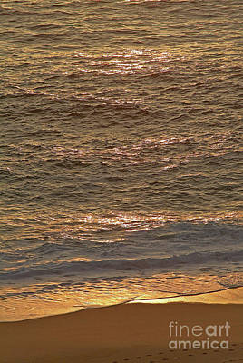 Photograph - Sunset Waves Over Carmel Beach by Charlene Mitchell