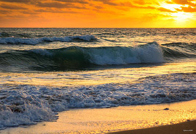 Photograph - Sunset Waves by Rebecca Hiatt