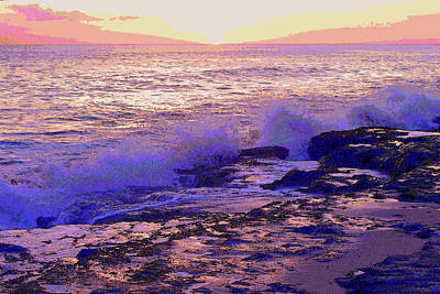 Sunset, West Oahu Art Print