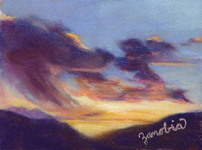 Sunset West Of Town Print by Zanobia Shalks