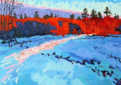 Sunset White Pines Original by Phil Chadwick