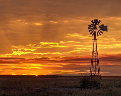 Photograph - Sunset Windmill 03 by Rob Graham