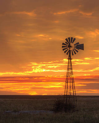 Photograph - Sunset Windmill 04 by Rob Graham
