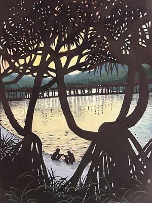 Sunset Windows Art Print by Serena Valerie Dolinska