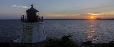 New England Lighthouse Digital Art - Sunset With A Lighthouse by Billy Bateman