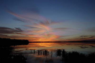 Photograph - Sunset With A Twirl by Carol Eade