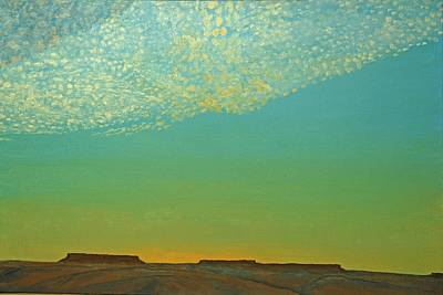 Painting - Sunset With Alto Cumulous by Kerry Beverly