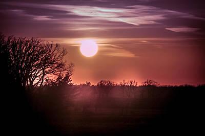 Sunset With Beautiful Sky Art Print