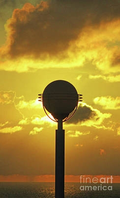 Photograph - Sunset With Black Orb by Randall Weidner
