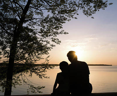Photograph - Sunset With Dad by Andrea Anderegg