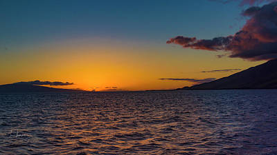 Photograph - Sunset With Maui And Lanai by Jim Thompson