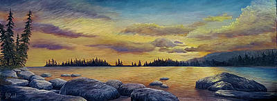 Painting - Sunset by John Reid