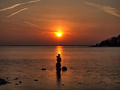 Photograph - Sunset Zen by Bruce Gannon