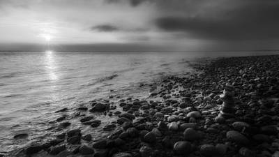 Photograph - Sunset Zen Bw by Bill Wakeley