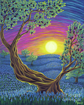 Fruit Tree Art Painting - Sunsets Gift by Rebecca Parker