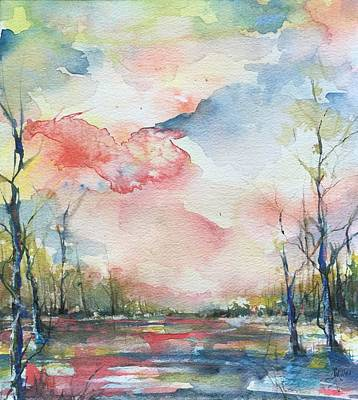 Sunsets Grace On The River Art Print by Robin Miller-Bookhout