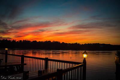 Sunsets In Lewiston Art Print by Carlos Ruiz