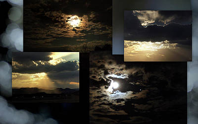 Montage Mixed Media - Sunsets Moons Rise by Irma BACKELANT GALLERIES