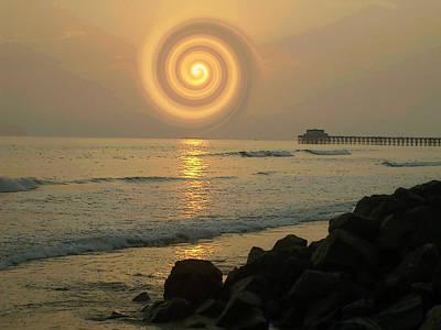 Sunsetswirl Art Print