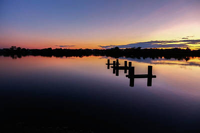 Photograph - Sunsetting Twilight Lake by Kathleen McGinley