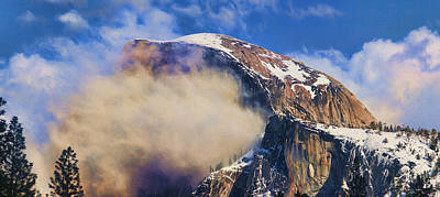 Photograph - Sunshine And Clouds On Half Dome by Gregory Scott