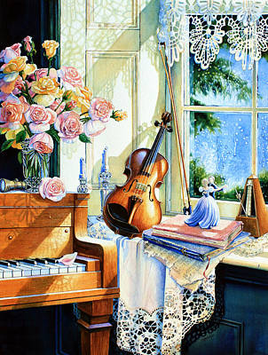 Windowsill Painting - Sunshine And Happy Times by Hanne Lore Koehler