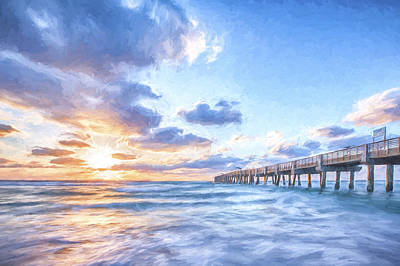 Pier Digital Art - Sunshine At The Pier II by Jon Glaser