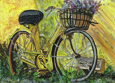 Painting - Sunshine Bike by Michelle Gilmore