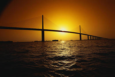 Florida Bridge Photograph - Sunshine Bridge St Petersburg Fl by Panoramic Images