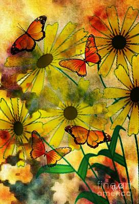 Digital Art - Sunshine Daisies by Maria Urso