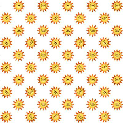 Digital Art - Sunshine Daisy Repeat by Deborah Runham