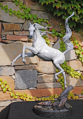 Bronze Sculpture - Sunshine Dancer Bronze Arabian Horse Sculpture by J Anne Butler