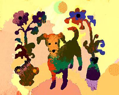 Dog Christmas Card Digital Art - Sunshine Daydream by Holly McGee
