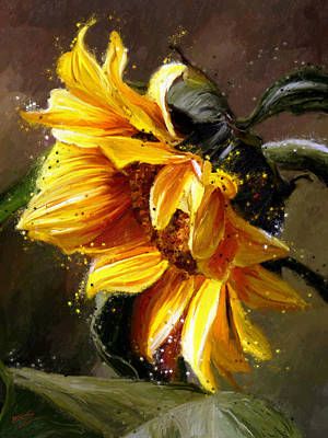 Painting - Sunshine Flower by James Shepherd